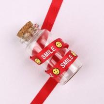 빨강색/스마일SMILE(골직프린트)