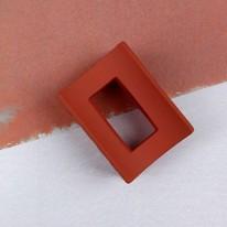 벽돌색/매트사각집게핀