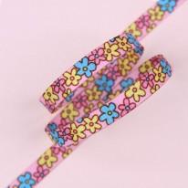 핑크색/접시꽃플라워(양면전사골직프린트)