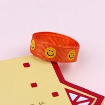 오렌지색/웃는얼굴(골직프린트)