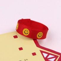 빨강색/웃는얼굴(골직프린트)