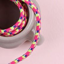 형광체리흰색잉크색형광노랑/파라코드끈