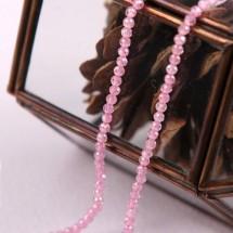 핑크색/2mm지르코니아(크리스탈)-1줄