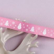핑크색/스노우데이(무광양면공단프린트)