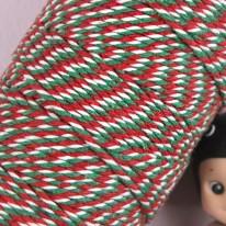 빨강/초록 삼색 트와인(꽈배기)