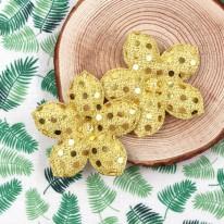 노랑색/스팽글 오겹꽃(초음파장식)